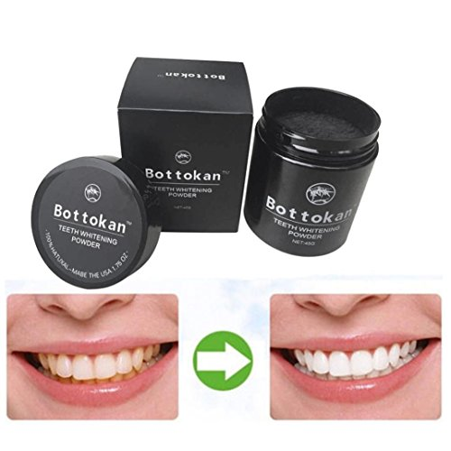 Fheaven =Carbon Coco Organic Charcoal Teeth Whitening Powder Natural Tooth Polish Stains Removal - Painting Enamel Pearls