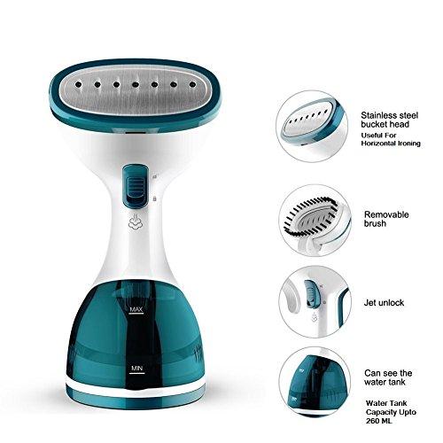 WisTec Techne Direct 1000-Watts Handheld Garment Steamer (Blue & White)