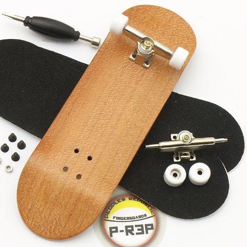 Peoples Republic Cherry Complete Wooden Fingerboard w Nuts Trucks - Basic Bearing Wheels