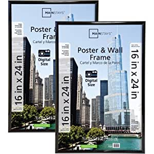 amazoncom mainstays 16quot x 24quot trendsetter poster frame