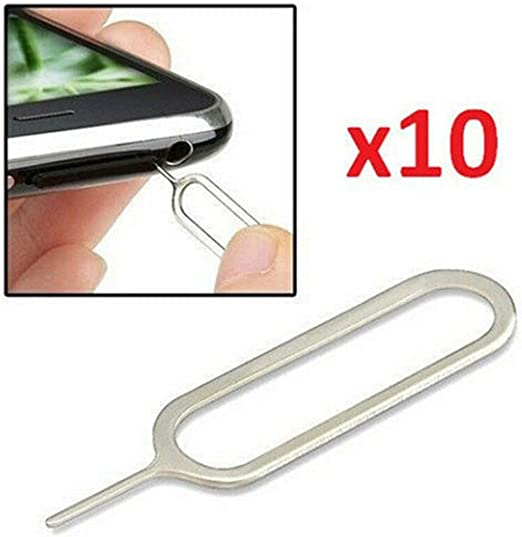 50pcs Sim Card Tray Remover Eject Ejector Pin Key Tool for iPhone Samsung iPad
