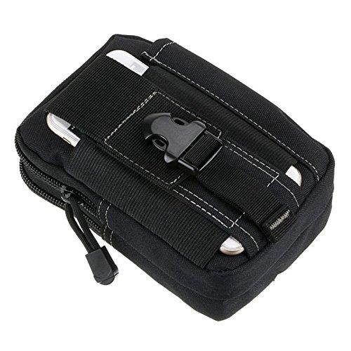 CHEEFULL Universal Multipurpose Taktische Tasche Gürtel Taille Pack Tasche Military Taille Fanny Pack Telefon Tasche Gadget Geld Tasche (Schwarz)