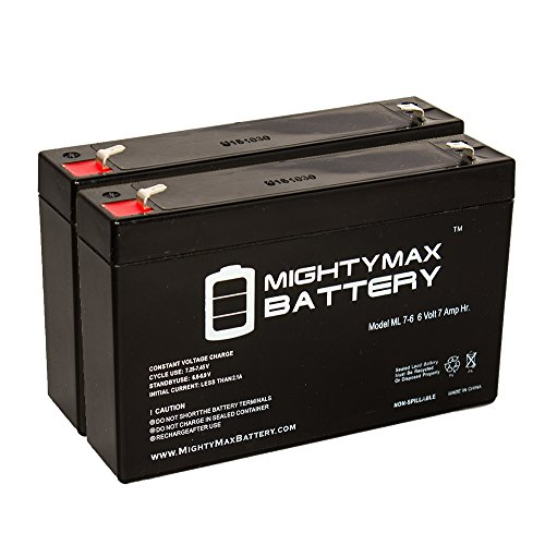 Ride On Replacement 6V 7AH Battery For Kids Ride On Power Car Wheels - 2 Pack - Mighty Max Battery brand product