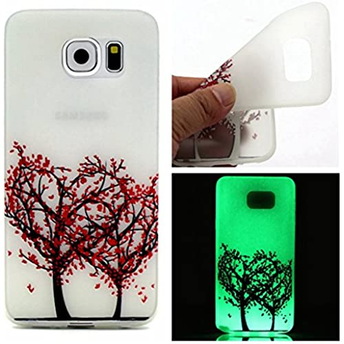 Galaxy S7 Edge Case,Gift_Source [Love tree] Colorful Silicone Cover Glow in the Dark Noctilucent Ultra Slim Luminous Soft TPU Skin Case For Samsung Galaxy S7 Edge 5.5 Sales