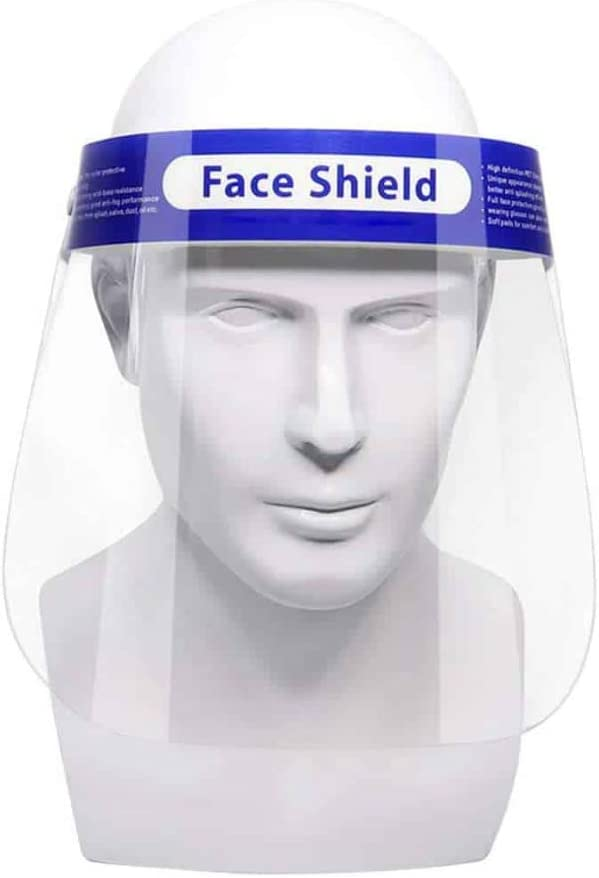CUROfit 50 Pieces Face Shields with 50 Bands and 50 Sponges for Man and Women to Protect Eyes and Face