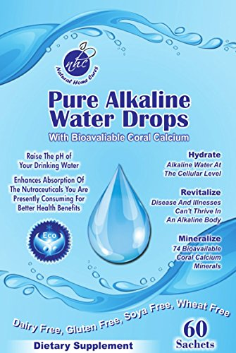 Natural Home Cures Pure Alkaline Water Drops Contains Bioavailable Australian Great Barrier Reef Coral (Coral Water)