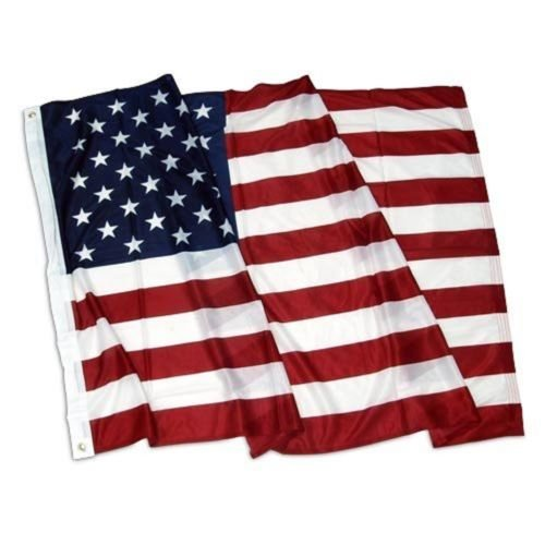 Moon Knives 3x5 USA United States 50 Stars Nylon/Poly Blend Flag Brass Grommets Clips - Party Decorations Supplies For Parades - Prime Outside, Garden, Men Cave Decor Flag