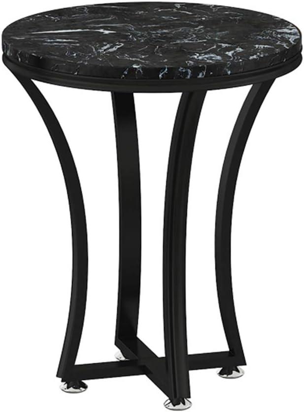 YNN ポータブルテーブル 大理石のコーヒーテーブルキッチンラウンドテーブルリビングルームソファサイドテーブルゴールドメタルフレーム19.6''x23.6 '' (Color : D)