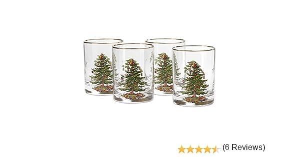Amazon Spode Christmas Tree Glass Double Old Fashioneds Set