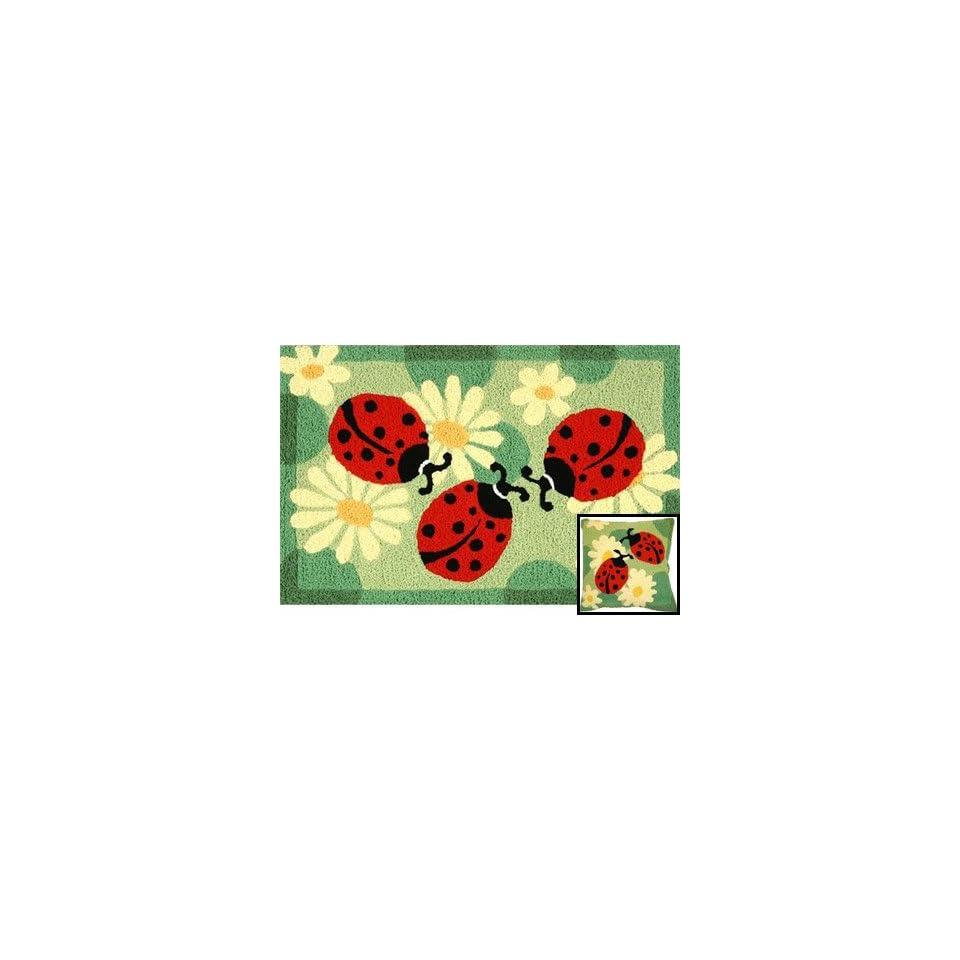 Jellybean Ladybugs Indoor Outdoor Rug
