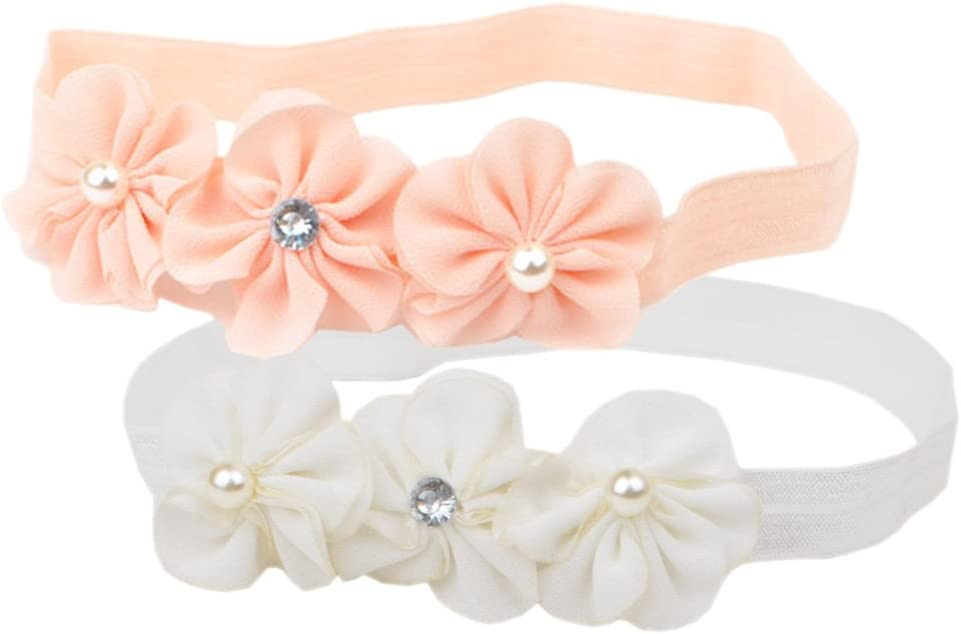 COUXILY Babys Headband with Grosgrain Ribbon Faux Leather Stars Mouse Ears for Party