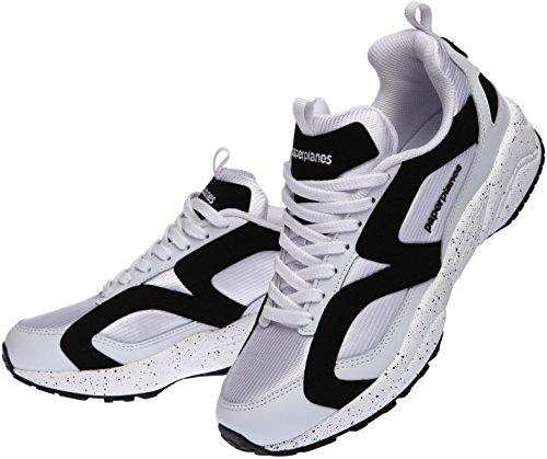 Paperplanes-1352 Unisexe Ultra Race De Mode Sneakers Chaussures Blanc Noir
