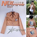 Angle Idea Attack On Titan Lady Girl Cosplay Long Sleeve Jackets Short Coat Fashion Coser Cloth M L Xl Xxl Xxl