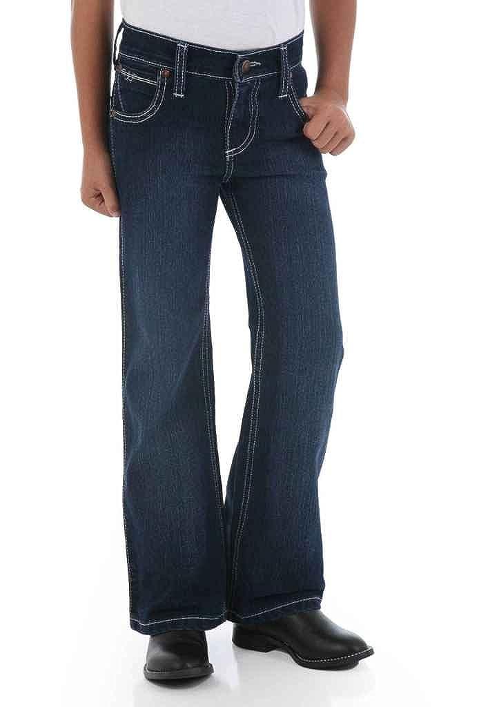 6X Slim Wrangler Girls Q-babyJean Antique Indigo