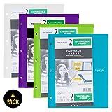 Five Star Customizable Plastic Folder, Trend 4 Pack