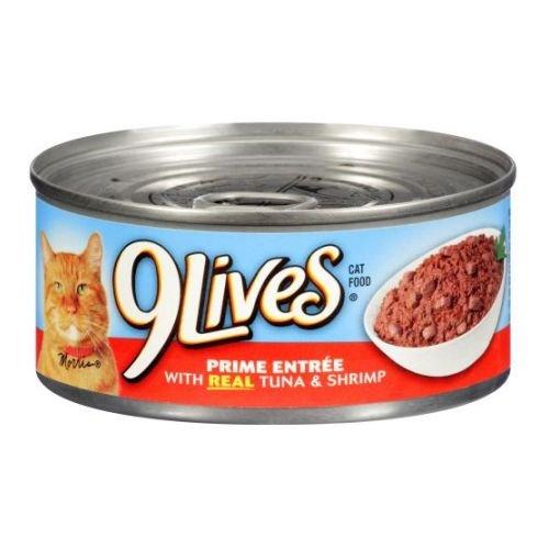 9Lives Prime Entree - Tuna & Shrimp - Pack of 24, 5.5 oz by 9Lives