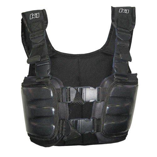 K1 Race Gear Carbon Fiber Racing Rib Vest (Black, X-Large) ()