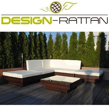 Amazon.de: Design-Rattan® - VERONA - Polyrattan Gartenmöbel Lounge ...