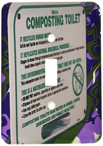 Electric Composting Toilet (3dRose LLC lsp_56509_1 This Is A Composting Toilet Sign In A Bathroom In Snow Canyon State Park, Utah Single Toggle Switch)