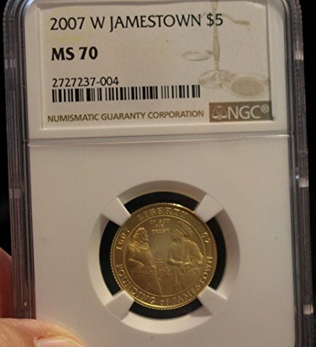 2007 W JAMESTOWN G$5 MS70 NGC ()