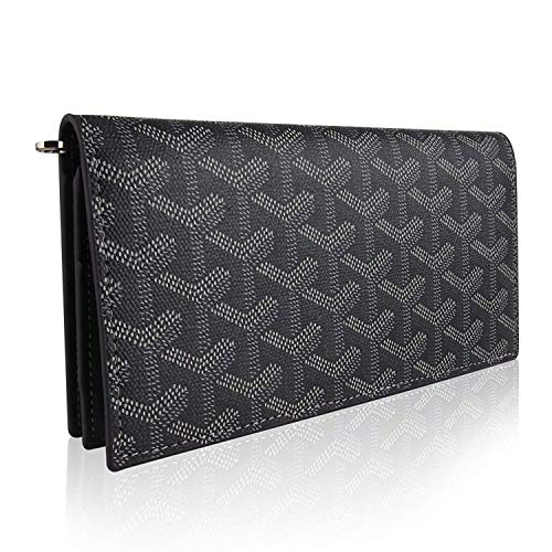 Stylesty Genuine Leather Long Wallet for Women, Bifold Large Capacity Long Purse - Dog Hermes On Wallet