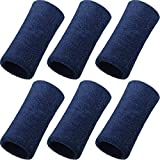 WILLBOND 6 Inch Wrist Sweatband Sport Wristbands