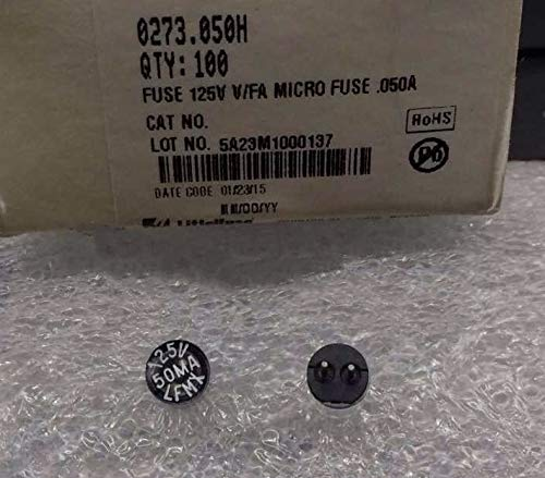 Davitu 100% New 0273 LFMX Fuse 125V 50mA 100mA 500mA 750mA 1A 2A 3A 4A 5A - (AMP: 1A)