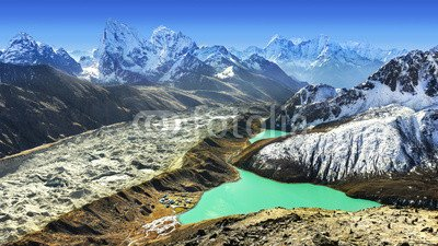Beautiful View From Gokyo Ri Everest Region Nepal 70570261