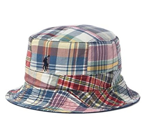 - Ralph Lauren Polo Mens Reversible Pony Logo Bucket Hat (L/XL, Multi/Navy)