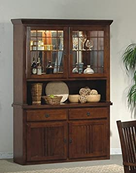 Superb Mission Style Solid Wood China Cabinet Buffet Hutch Amazon Home Remodeling Inspirations Basidirectenergyitoicom