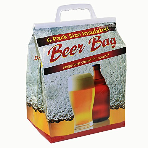 Jay Bags BR-26 Beer 6 Pack Reusable Insulated Drink Bag, (Handled Beer)