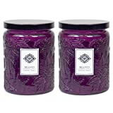 2 Aromatherapy Scented Candles - Beloved - Two 16 Ounce Glass Mason Jar Candles with a 100 Hour Burn Time - A Great Gift and Beautiful Decor Piece!