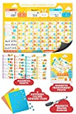 Behavior Chore Reward Chart for Multiple Kids - Potty Training Responsibility Magnetic Star Charts - Multiple Toddlers Dry Erase Easel Schedule - Wall Sticker Magnets Family Calendar Board Planner
