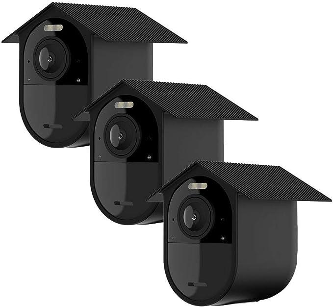 Tiuihu Wetterfeste Silikonhülle 3 Stk Für Arlo Ultra Arlo Pro 3 Silikonhülle Für Ihre Arlo Kamera Anti Kratz Schutzhülle Zusätzlicher Schutz Schwarz Baumarkt