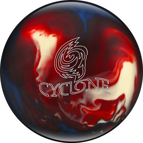 Ebonite Cyclone Bowling Ball, Red/White/Blue, 15 lb
