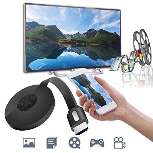 Vanvler WiFi Display Receiver, Miracast 1080P G2-4 Generation Digital HDMI Media Video Streamer For iOS/Android (Black)