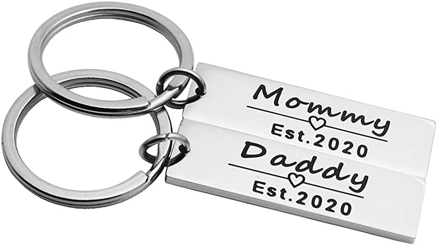 Mum to be Baby Shower  Pregnancy Gift Boy Girl Child Keyring Jewellery charm