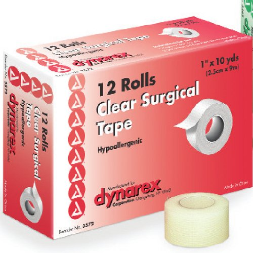 Dynarex, Clear Surgical Tape, Hypoallergenic, 1