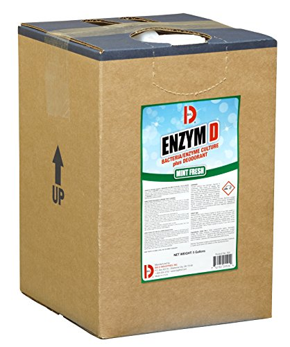 Big D 5504 Enzym D Digester Deodorant, Mint Fresh Fragrance, 5 Gallon Pail - Breaks down organic waste and destroys odors - Ideal for use on urine in restrooms and carpets