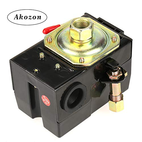 (Akozon Air Compressor Pressure Switch 1 pcs Universal Pressure Switch 95-125 Psi for Air Compressor Pump Control Valve)