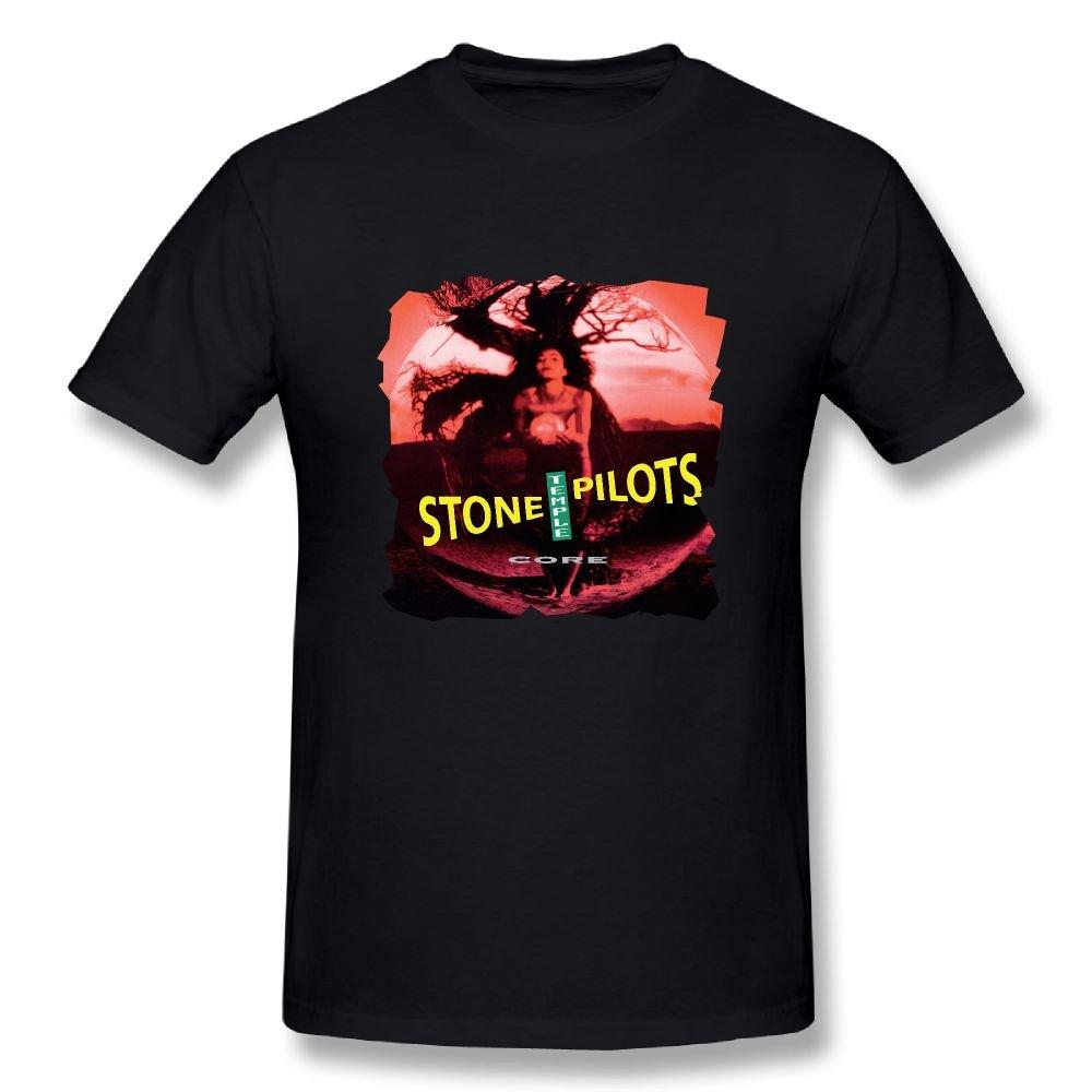 JohnHA Men\'s Stone Temple Pilots Core Fashion Tshirts Black