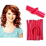 Glamzone 10 Pieces Self Holding Hair Curling Flexi Rods Roller Hair Sticks