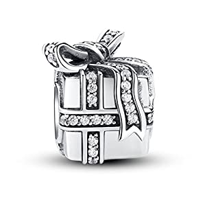 Glamulet Gift Box Charm Dangle 925 Sterling Silver Pendant Fits For European Bracelet by Glamulet