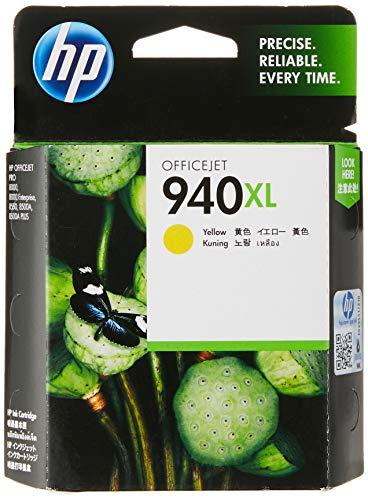 HP 940XL Office Jet Ink Cartridge, Yellow