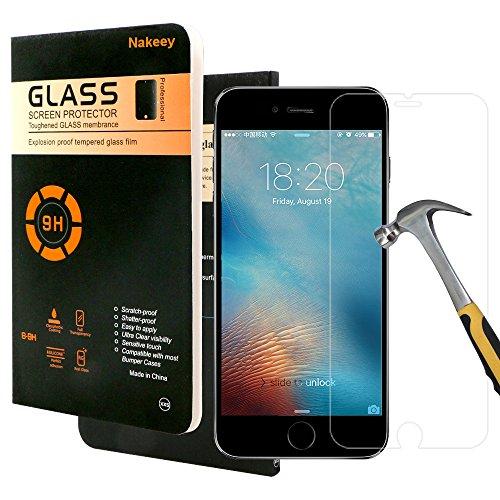 iPhone 7 Schutzfolie- Nakeey Ultra-Klar [9H Härtegrad] iPhone 7 Panzerglas Kompatibel Gehärtetem Glas für iPhone 7,Hartglas Screen Protector Schutzglas