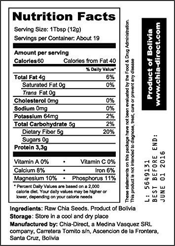 Amazon.com : semillas naturales de chia negra libre de pesticidas 8oz : Grocery & Gourmet Food