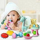 Wenasi Baby Rattle Infant Infants Teething Toys, Babies Teether, Ball Shaker, Grab, Spin Rattle, Gift Set for Newborn, Boy, Girl, Kids