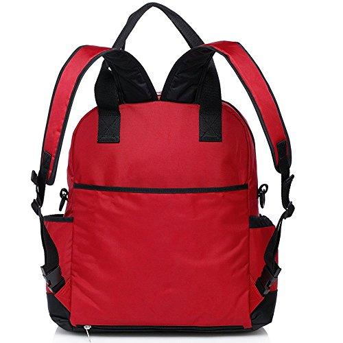 CLD 7colores de las mujeres mochila bolso cambiador pañales tamaño M lunares rojo rosso rosso