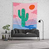 Society6 Wall Tapestry, Size Large: 88'' x 104'', No Foolin - Retro Throwback neon Art Design Minimal Abstract Cactus Desert Palm Springs Southwest by wacka