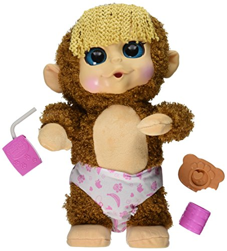 Animal Babies Feature Jumping Lil Monkeys Girl Plush